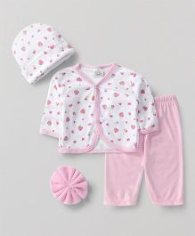 Babyhug Baby Clothing Gift Set Strawberry Pink - Pack of 4
