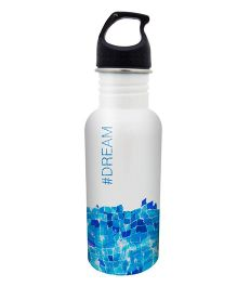 Hot Muggs Stainless Steel Water Bottle Dream Print - 600 ml