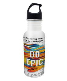 Hot Muggs Stainless Steel Water Bottle Do Epic Print - 600 ml