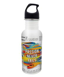 Hot Muggs Stainless Steel Water Bottle Passion Never Fails - 600 ml