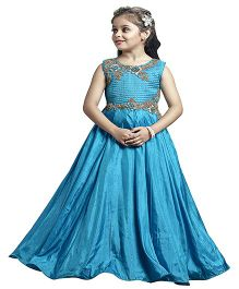 Betty By Tiny Kingdom Frilly Cute Gown - Blue