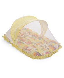 Mee Mee Mattress With Pillow And Mosquito Net - Yellow
