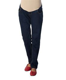 Kriti Maternity Full Length Jeans - Blue