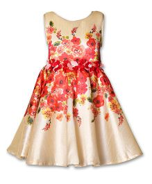 A Little Fable Sleeveless Dress Floral Print - Beige