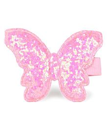 Babyhug Butterfly Shape Alligator Hair Clip - Pink