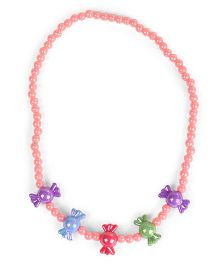 Babyhug Necklace With Toffee Design - Pink