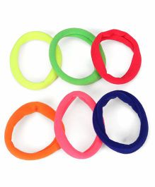 Babyhug Hair Rubber Band Set of 6 - Multicolour