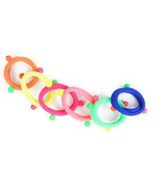 Babyhug Hair Rubber Band With Pom Pom Set of 6 - Multicolor