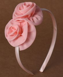 Babyhug Hair Band Rose Applique - Peach