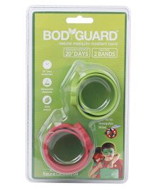 Bodyguard Natural Mosquito Repellent Band Pack Of 2 - Green & Red