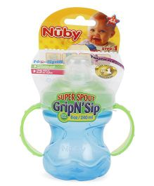 Nuby Grip N Sip Super Spout Green Blue - 240 ml