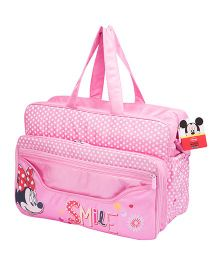Disney Polka Dot Diaper Bag With Changing Mat - Pink