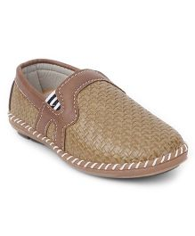 Cute Walk by Babyhug Slip On Loafers  - Light Brown