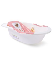 Baby Bath Tub Teddy Print - Pink