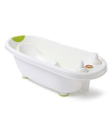 Baby Bath Tub And Bath Sling With Bathing Mug - Green