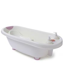 Baby Bath Tub And Bath Sling With Bathing Mug - Pink