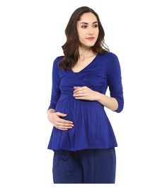 Mamacouture Maternity Top -  Royal Blue