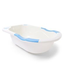 Baby Bath Tub With Soap Case Teddy Bear Print - Blue
