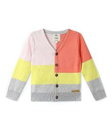 Cherry Crumble California California Color Block Cardigan - Multicolor