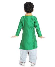 Little Pockets Store Sherwani With Bead Work - Green