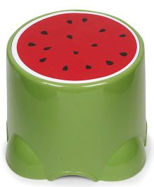 Baby Stool Watermelon Print - Green & Red