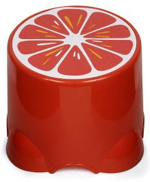 Baby Stool Fruit Print - Red