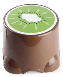 Baby Stool Kiwi Fruit Print - Brown & Green