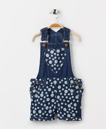 Eimoie Denim Dungaree Dress - Indigo