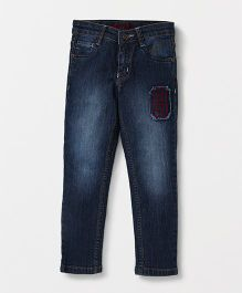 Tonyboy Full Length Elastic Waist Jeans With Pockets - Indigo