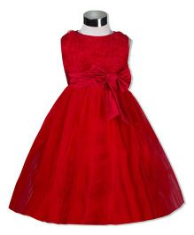 The KidShop Rosette Party Dress With Bow - Red