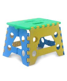 Baby Folding Stool - Green & Yellow