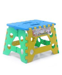 Baby Folding Stool - Blue Yellow Green