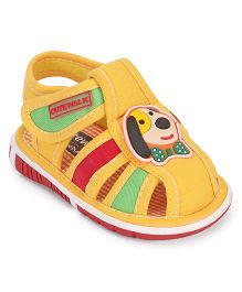 Cute Walk by Babyhug Sandals Puppy Patch - Yellow