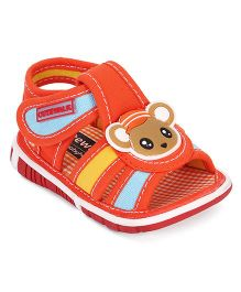 Cute Walk by Babyhug Sandals Rat Applique - Orange