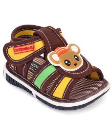 Cute Walk by Babyhug Sandals Rat Applique - Brown