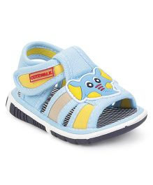 Cute Walk by Babyhug Sandals Elephant Applique - Light Blue