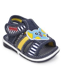 Cute Walk by Babyhug Sandals Elephant Applique - Navy