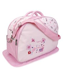 Diaper Bag With Changing Mat - Pink