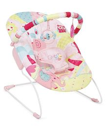 Mastela Music And Soothe Bouncer Owl Print - Pink
