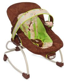 Mastela Newborn to Toddler Rocker Floral Print - Brown