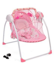 Primi Portable Swing With Mosquito Net & Charger - Pink