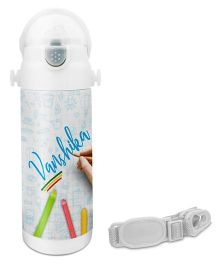Hot Muggs Crayons Stainless Insulated Steel Sipper Water Bottle 350 ml - Vanshika