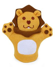Lion Shaped Bath Glove - Yellow Brown