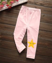Pre Order - Awabox Star Print Leggings - Pink