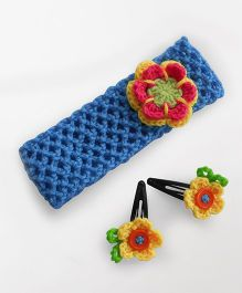 Dollops of Sunshine Hairband & Clips Set -  Blue