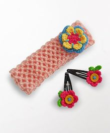 Dollops of Sunshine Hairband & Clips Set -  Pink