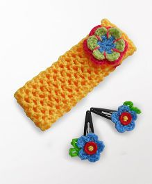 Dollops of Sunshine Hairband & Clips Set -  Yellow