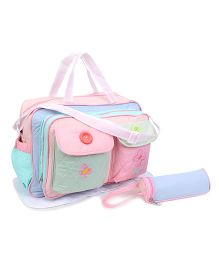 Diaper Bag Flower And Butterfly Patch - Multicolor