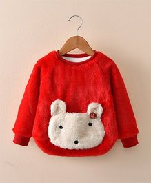 Pre Order - Awabox Mouse Design Sweater - Red