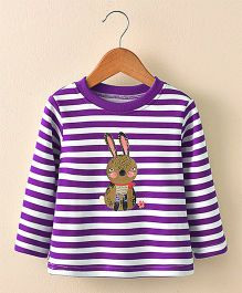 Pre Order - Awabox Rabbit Print Tee - Purple